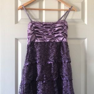Other - Girls Tiered Lace Purple Dress